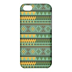 Bezold Effect Traditional Medium Dimensional Symmetrical Different Similar Shapes Triangle Green Yel Apple Iphone 5c Hardshell Case