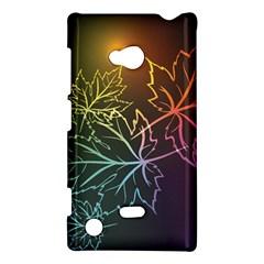 Beautiful Maple Leaf Neon Lights Leaves Marijuana Nokia Lumia 720