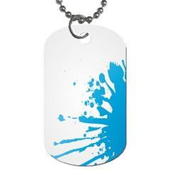 Blue Stain Spot Paint Dog Tag (one Side)