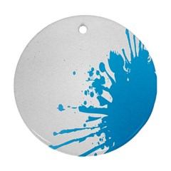 Blue Stain Spot Paint Round Ornament (two Sides)