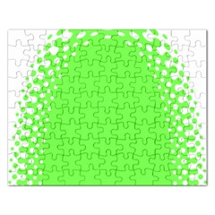 Bubble Polka Circle Green Rectangular Jigsaw Puzzl