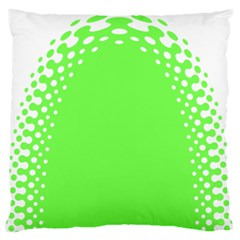 Bubble Polka Circle Green Large Flano Cushion Case (one Side)