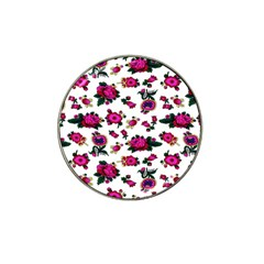 Crown Red Flower Floral Calm Rose Sunflower White Hat Clip Ball Marker (10 Pack)