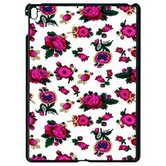 Crown Red Flower Floral Calm Rose Sunflower White Apple Ipad Pro 9 7   Black Seamless Case