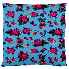 Crown Red Flower Floral Calm Rose Sunflower Standard Flano Cushion Case (one Side)