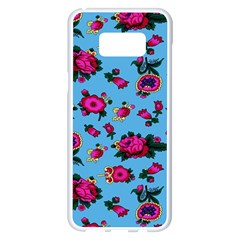 Crown Red Flower Floral Calm Rose Sunflower Samsung Galaxy S8 Plus White Seamless Case
