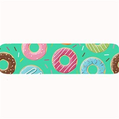 Doughnut Bread Donuts Green Large Bar Mats