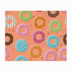 Doughnut Bread Donuts Orange Small Glasses Cloth