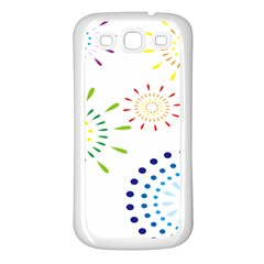 Fireworks Illustrations Fire Partty Polka Samsung Galaxy S3 Back Case (white)