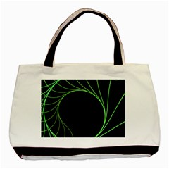 Fractal Golden Ratio Fractal Pattern Nature From Similar Seashell Patterns Basic Tote Bag (two Sides)