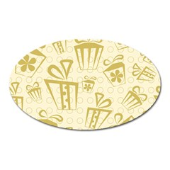 Gift Party Polka Grey Oval Magnet