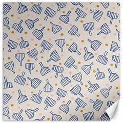 Glass Polka Circle Blue Canvas 12  X 12