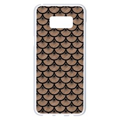 Scales3 Black Marble & Brown Colored Pencil (r) Samsung Galaxy S8 Plus White Seamless Case