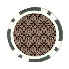 Scales2 Black Marble & Brown Colored Pencil (r) Poker Chip Card Guard (10 Pack)