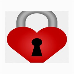 Heart Padlock Red Love Small Glasses Cloth