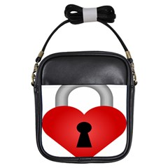 Heart Padlock Red Love Girls Sling Bags