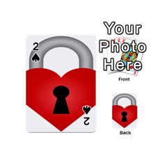 Heart Padlock Red Love Playing Cards 54 (mini)
