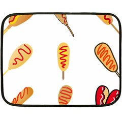 Hot Dog Buns Sate Sauce Bread Fleece Blanket (mini)