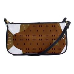 Illustrain Animals Reef Fish Sea Beach Water Seaword Brown Polka Shoulder Clutch Bags