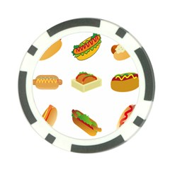 Hot Dog Buns Sauce Bread Poker Chip Card Guard
