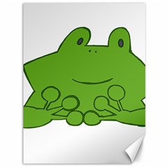 Illustrain Frog Animals Green Face Smile Canvas 36  X 48