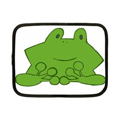 Illustrain Frog Animals Green Face Smile Netbook Case (small)