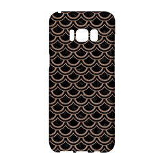 Scales2 Black Marble & Brown Colored Pencil Samsung Galaxy S8 Hardshell Case