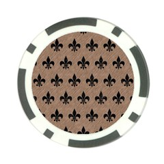 Royal1 Black Marble & Brown Colored Pencil Poker Chip Card Guard (10 Pack)