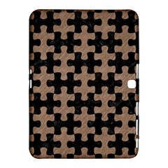 Puzzle1 Black Marble & Brown Colored Pencil Samsung Galaxy Tab 4 (10 1 ) Hardshell Case