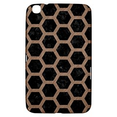 Hexagon2 Black Marble & Brown Colored Pencil Samsung Galaxy Tab 3 (8 ) T3100 Hardshell Case