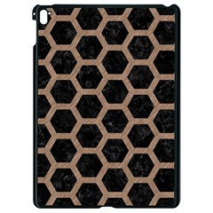 Hexagon2 Black Marble & Brown Colored Pencil Apple Ipad Pro 9 7   Black Seamless Case