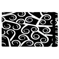 Koru Vector Background Black Apple Ipad Pro 9 7   Flip Case