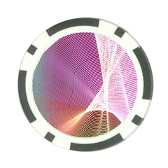 Light Means Net Pink Rainbow Waves Wave Chevron Poker Chip Card Guard (10 Pack)