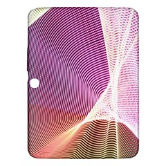 Light Means Net Pink Rainbow Waves Wave Chevron Samsung Galaxy Tab 3 (10 1 ) P5200 Hardshell Case
