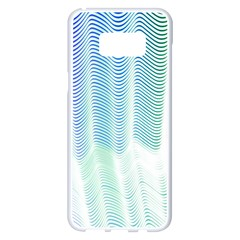 Light Means Net Pink Rainbow Waves Wave Chevron Green Samsung Galaxy S8 Plus White Seamless Case