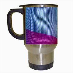 Light Means Net Pink Rainbow Waves Wave Chevron Red Travel Mugs (white)