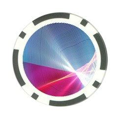Light Means Net Pink Rainbow Waves Wave Chevron Red Poker Chip Card Guard (10 Pack)