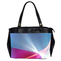 Light Means Net Pink Rainbow Waves Wave Chevron Red Office Handbags (2 Sides)
