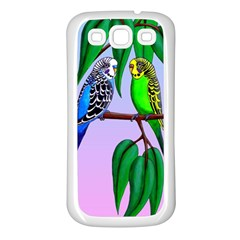 Budgies In The Gum Tree Samsung Galaxy S3 Back Case (white)