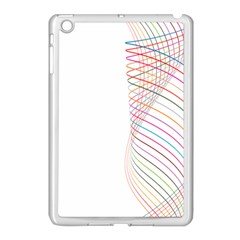 Line Wave Rainbow Apple Ipad Mini Case (white)