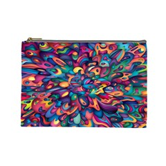 Moreau Rainbow Paint Cosmetic Bag (large)