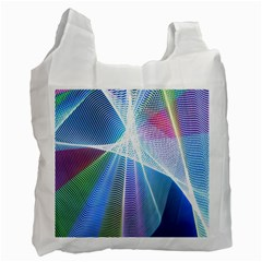 Light Means Net Pink Rainbow Waves Wave Chevron Green Blue Sky Recycle Bag (one Side)