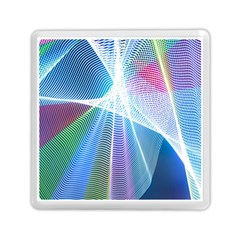 Light Means Net Pink Rainbow Waves Wave Chevron Green Blue Sky Memory Card Reader (square)