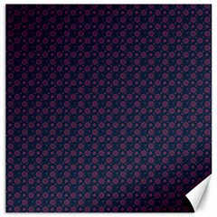 Purple Floral Seamless Pattern Flower Circle Star Canvas 20  X 20