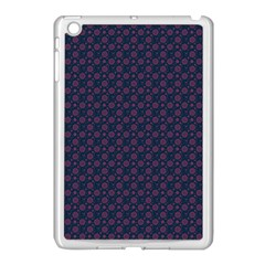 Purple Floral Seamless Pattern Flower Circle Star Apple Ipad Mini Case (white)