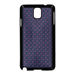 Purple Floral Seamless Pattern Flower Circle Star Samsung Galaxy Note 3 Neo Hardshell Case (black)