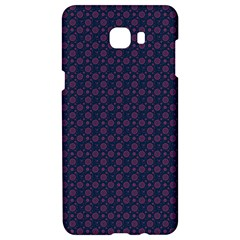 Purple Floral Seamless Pattern Flower Circle Star Samsung C9 Pro Hardshell Case