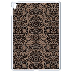 Damask2 Black Marble & Brown Colored Pencil (r) Apple Ipad Pro 9 7   White Seamless Case