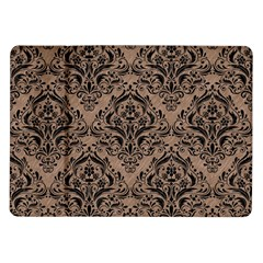Damask1 Black Marble & Brown Colored Pencil (r) Samsung Galaxy Tab 10 1  P7500 Flip Case