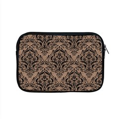 Damask1 Black Marble & Brown Colored Pencil (r) Apple Macbook Pro 15  Zipper Case